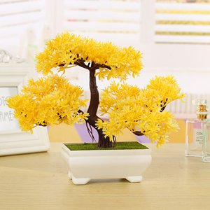 Fontes do partido Plástico Artificial Árvore Plantas Cerâmica Bonsai Pote de Árvore Cultura Para Escritório Casa Sala de estar Móveis Decorativos