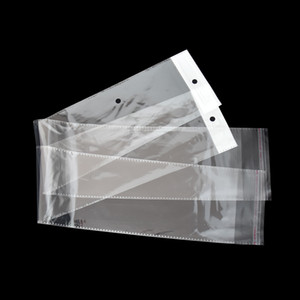 10.5x62cm Clear OPP Plastic Wig Package Bag Self-Adhesive Long Transparent Poly Packing Bags Hairpiece Hair Extension Packaging Pouch Bag