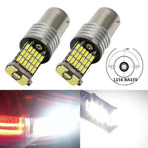 2X 1156 P21W BA15S LED Canbus Free Error 850lm 4014 45SMD Decoder Lampe Canbus Ampoule Tourner inverse signal lumineux avec une lampe résistance