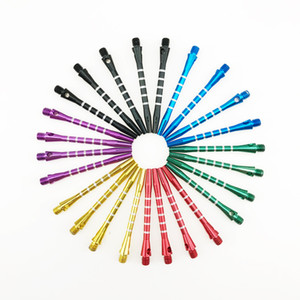 2BA lega di alluminio Media freccette Alberi Erpici Dart Gambi Lanciare lunghezza 53 millimetri 6 colori disponibili NY094