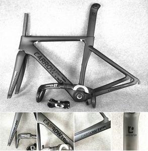 Tam karbon fiber UD BOB Siyah Siyah CARROWTER üzerinde karbon yol bisikleti çerçeveleri + UD CARROWTER Ekibi CT karbon Gidon birlikte satış ücretsiz kargo