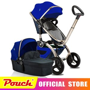 Kuudy  Baby Stroller Folding Baby Carriage High Landscape Sit and Lie for Newborn Infant Four Wheels
