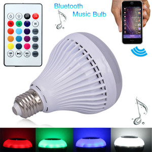 Music Bulb RGB Wireless E27 LED Smart Bluetooth Audio Playing Lampada Speaker Light Remote Control Home Lamp