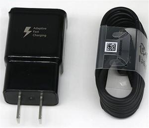 Top calidad S8 2A / cargador de pared USB 5V 1.67A / 9V de carga rápida + 1,2 m S8 Tipo C Cable EP-TA20JBE para Samsung S8 S9