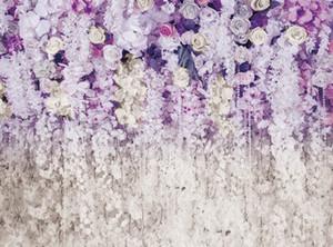 venta al por mayor foto telón de fondo gran boda nupcial ducha floral pared 3D flores telones de fondo para la fotografía Photo Studio Xt-6708