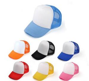 Kinder Baseball Caps Benutzerdefinierte Logo Kinder Blank Trucker Hüte Einstellbare Hysterese Trucker Caps Strapback Sommer Sonnenblende MOQ 30 stücke