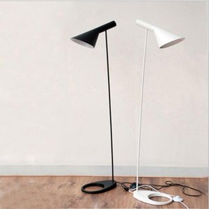 Nordic Design Black White AJ Floor Lamps Stand Lights E27 LED Bulb Metal Floor Light for Living Room Brief fashion home lighting Bedroom
