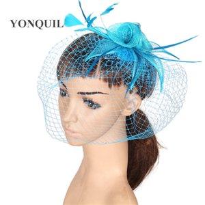 Ücretsiz kargo 17 renkler sinimay fascinator gelin veils düğün şapkalar için kokteyl şapkaları vesilesi saç accessoires 6 Adet / grup MYQ070