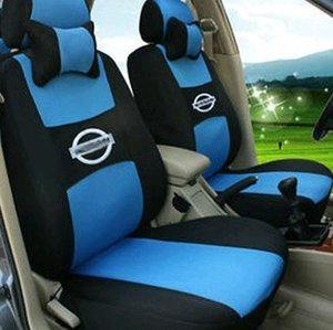 Protector de asiento de coche universal de conjunto completo para Nissan NISSAN sentra x-trail qashqai tiida Fundas de asiento epacket gratis