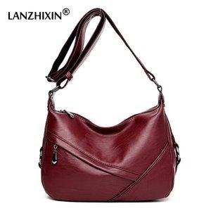 Lanzhixin femminili borse a spalla modo di alta qualità Retro signora Satchel Tote Bags Donne Messenger Crossbody 1608
