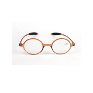 Retro Lesebrille Mode Runde Harz Objektiv Brillen Frauen Männer Vergrößerung Eye Reader Braun Vollkunststoffrahmen + 1,0 ~ + 4,0 Leichte