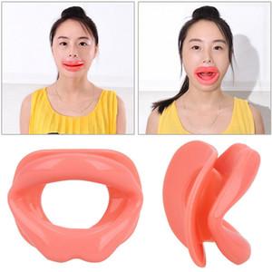 Masaje de estiramiento facial Herramienta Maquillaje Goma de silicona Cuidado de la cara Delgado Boca Muscular Tightener Entrenador de labios Masajeador de boca