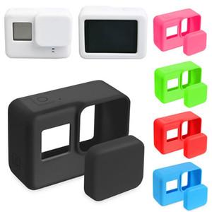 Go Pro Accessoires Camera Action Housse de protection silicone peau cas + couvercle capuchon d'objectif pour GoPro Hero 5 Black Hero 6 Caméra