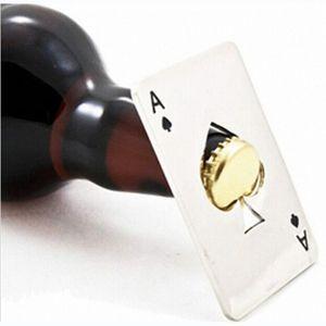 Poker-Karte Bier Flaschenöffner personalisierte lustige Edelstahl Kreditkarte Flaschenöffner Card of Spades Bar Tool