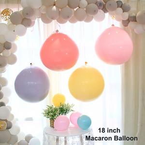 18 pulgadas Gran Dulce Macaron Globo de Color Caramelo Puro Globos de Látex Decoración de Boda Fiesta de Cumpleaños Eventos Suministros