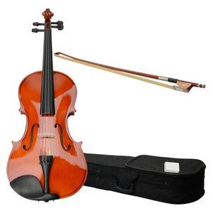 Instrumentos musicales de viola acústica de 15 pulgadas con estuche Arco Resina Naturaleza Color adecuado para adultos