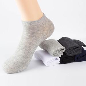 Calidad 6 par / lote Hombres Calcetines de algodón Casual Verano Calcetines finos y transpirables de negocios Alta calidad No Show Calcetines de barco Hombres cortos Venta caliente