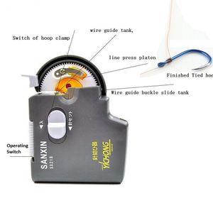 Dispositivo eléctrico Gancho de pesca automático Tier Tool Tyer Máquina que ata el dispositivo Tie Knot Lure Fishing Hook Línea Tyer Tie Machine Fish
