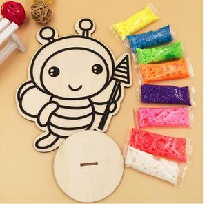 Kreative Sand Malerei Kunst Holz Reißbrett für Kinder Schnee Perle Schlamm Zeichnung Spielzeug Diy Farbe Handmalerei Kinder Spielzeug