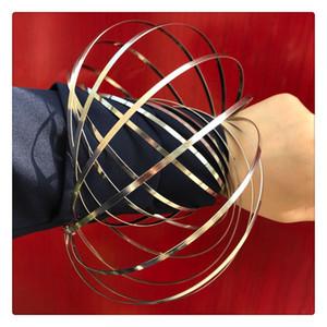Brinquedos de primavera holográfico ao mover-se cria um arco-íris de fluxo de anel 3D em forma de anel de fluxo Kinetic Efeito brinquedos cinéticos IMEDIATAMENTE ENTREGA