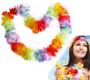 Новый Гавайский Стиль Красочные Leis Пляж Тема Луау Партия Гирлянда Ожерелье Праздник Прохладный Декоративные Цветы