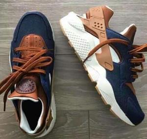Huarache ID personalizado Respire calçados casuais para homens mulheres Denim azul marinho tan ar Huaraches Multicolor Hurache calçados casuais