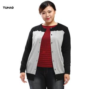 TUHAO 2018 Otoño Invierno Office Lady Women Jacket Cardigan Tallas grandes 10XL 8XL 6XL Abrigos Mujer KNIT Sweater Casual Sweater MS