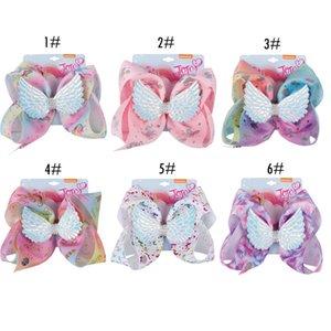 Boutique Unicorn Jojo Bows Barrettes Unicornio Prints Bows cheveux avec diamant Wing enfants fille de fête d'anniversaire Fournitures