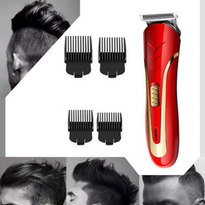 KEMEI KM-1409 Hair Clipper Electric Razor Hombres Acero al Carbono Shaver Trimmer Recargable Trimer Barba Eléctrica