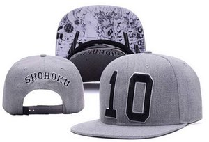 Número 10 de alta calidad Snapback Gorras Sombreros SHOHOKU Snapbacks Snap Back Cool Hip-hop Sombrero Hombres Mujeres Gorra de béisbol Venta barata