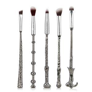 2018 Moda 5 piezas de Harry Potter belleza cepillo del maquillaje de sombra de ojos maquillaje Cepillos cosméticos compone las herramientas Accesorios apoya al por mayor