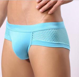 10 Pcs Wholesale Man's Mesh Underwear Men Boxer Briefs Shorts Sexy Boxers Underpants