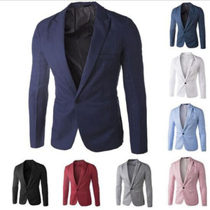 Wholesale Casual Men's Suits High Quality One Button Men Blazers Outdoors Slim Fit Jackets Men Long Sleeve 8 Colors Suits Plus-size M-3XL