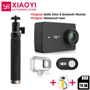 """Xiaomi YI 4K Plus 액션 카메라 용 무료 16GB SD 카드 추가 Ambarella H2 4K / 60fps 12MP 155도 2.19 """"RAW YI 4K + 스포츠 카메라"""