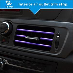 뜨거운 saled 자동차 DIY 액세서리 유연한 인테리어 몰딩 공기 조건부 환기구 장식 스티커 트림 스트립 라인
