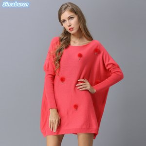 New Arrivals High Quality Autumn Winter Women Sweaters Pullovers Long Style Loose Red Thin Knitting Sweaters Dress Plus Size