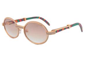 2017 New Madeira Natural Moldura Completa Diamante Óculos, 7550178 alta Sunglasses qualidade, tamanho: 55 -22-135mm óculos de sol retros, 2 cores