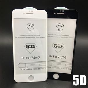 Für iphone xr xs max 6,5 5d gehärtetes glas displayschutzfolie gebogen full cover bubble free screen film mit kleinpaket