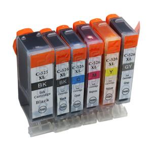 6PK PGI-525 CLI-526 Mürekkep Kartuşları Canon Yazıcılar Için Uyumlu PIXMA MG5150 MG5250 MG5350 MG6150 MG6250 IP4850 IP4950 MX715 Yazıcı Mürekkep
