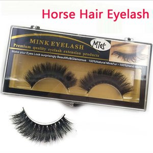 10pairs Mieux que Vison Cils luxe cheval cheveux faits à la main faux cils croix naturelle # MT05 faux cils en stock