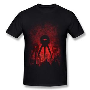 Vente chaude Hommes 100% Coton Robopocalypse T-shirts Hommes O Cou Rouge À Manches Courtes T-shirts Chemise Grande Taille Normal T-shirts
