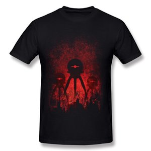 T-shirt manica calda T-shirt T-shirt in cotone T-shirt da uomo in cotone O Vendita Red Big Men's 100% Shirt Robopocalypse Dimensioni Normal Neck Qeugv