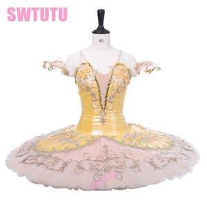 Traje de la etapa de ballet clásico Falda de tutú Adulto Hada de oro Profesional Ballet tutus Paquita Raymonda Tutu Niñas BT9233