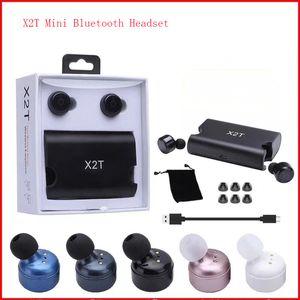Auriculares bluetooth inalámbricos de la energía móvil X2T deportes mini explosión binaural 4.2 TWS estéreo
