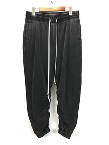 Hiphop Vintage Grey Baggy Sweatpants Kanye West Loose Fit Drop Crotch Jogger Pants Free Shipping