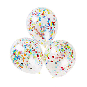 Eco-Friendly 36-inch Round Transparent Paper Balloon 2018 New Hot Wedding Layout Large Confetti Balloons Wedding Party Table Decorations