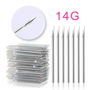 10PCS Tattoo Supply Accessories 14G 16G 18G 20G Piercing Needles Series Disposable Sterile Body Puncture Needle Assorted Ear Nose Navel Nipple