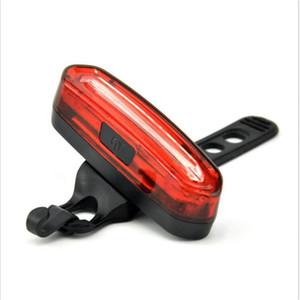 Luce posteriore per bicicletta ricaricabile USB-Super Bright 120 lumen luce posteriore per bicicletta impermeabile con 6 modalità, facile installazione Led rosso / blu chiaro