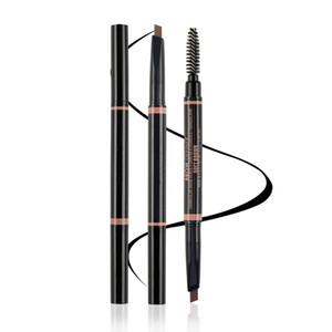 Vente usine Top Enhancer Sourcils 5 couleurs Duo Way Crayon Sourcils Poudre Définir Shading imperméable Sourcil autocollant maquillage Livraison gratuite