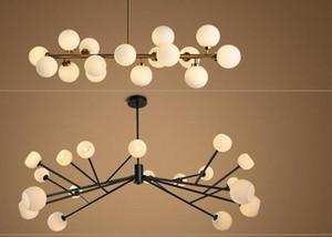 Nouveau design Europe du Nord LED creative modo ADN pendentif 16/18 Globes en verre abat-jour lustre luminaire LED